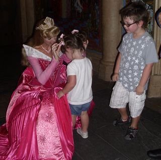 MK day- Princess Aurora likes Paige's hair